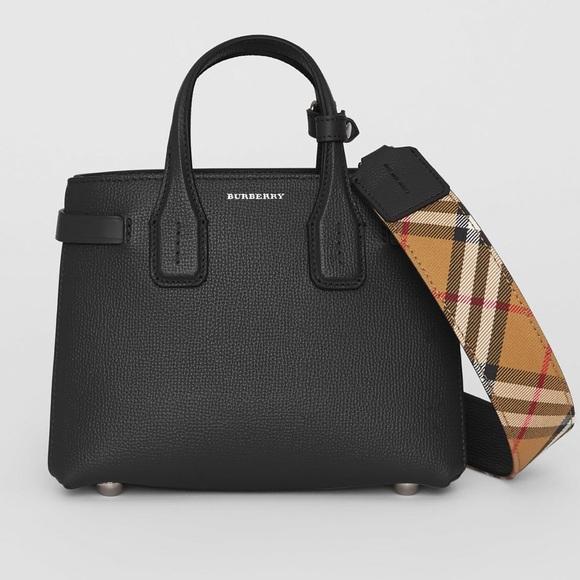 "Burberry Handbags - NWT Burberry ""Baby Banner"" leather satchel d9349df520876"